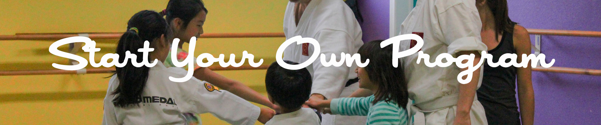 Start your own program banner